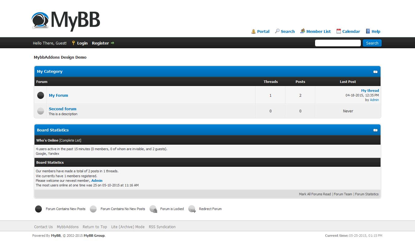 Google themes default - Mybb Default Theme