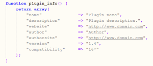 Plugin Info MyBB 1.6