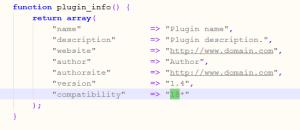 Plugin Info MyBB 1.8