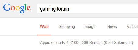 Gaming Forum Search Results