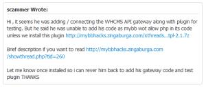 MyBB scammer